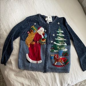 """Ugly"" Christmas sweater with zipper - vintage"